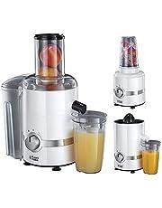 Russell Hobbs 3-in-1 Ultimate Juicer, Sapcentrifuge, Citruspers, Blender, Sap, Smoothies, 700 ml, vulopening, 800 Watt, 22700-56