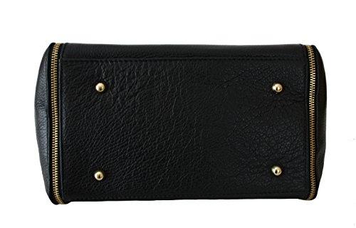 7b92ad519c358 ... Sa-Lucca echt Leder Handtasche Damentasche Shopper Ledertasche schwarz  Made in Italy