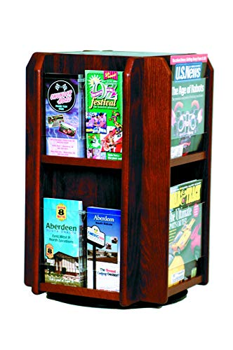 - Luggage Pros 8 Magazine 16 Brochure Rotary Counter Display