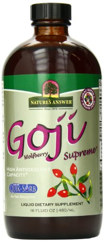 Nature's Answer Goji Supreme Wolfberry with Orac Super 7, 16-Fluid Ounces -