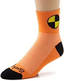 Men's Crash Test Dummy Socks Orange Sock Size:10-13/Shoe Size: 6-12