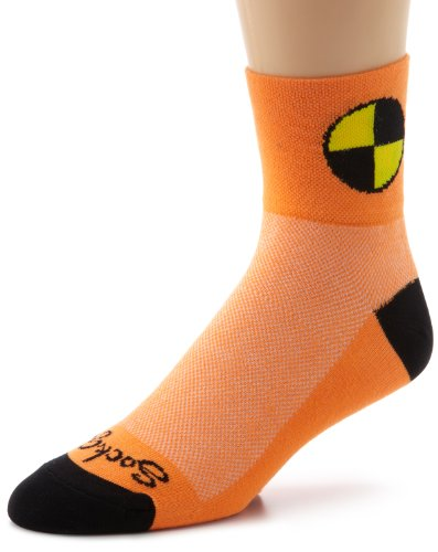 Sockguy Dummy Socks (SockGuy Men's Crash Test Dummy Socks, Orange,)