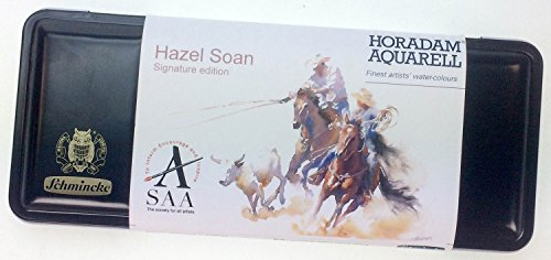 Hazel Soan Schmincke Horadam Aquarell Watercolour Set - 8 Full Pans and 9 Half -