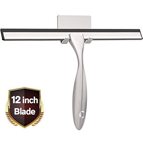 LPOLER Stainless Steel Squeegee for Shower Doors, All-Purpose Shower Squeegee for Bathroom, Window and Car Glass, 12 Inches in USA