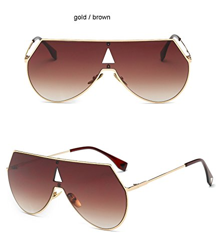 Brown de gafas para hombre Clear Gold Fashion dorado Aprigy Cool sol Gold y Gafas color plateado Steampunk sol de U1Bx4q