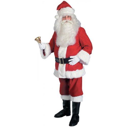 Super Deluxe Velvet Santa Suit Costume - (Santa Suit Super Deluxe Costumes)