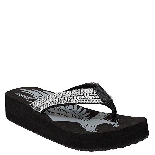 Ride Tecs Womens Black Thong Fine Jewele - Ladies Jeweled Thong Sandal Shopping Results
