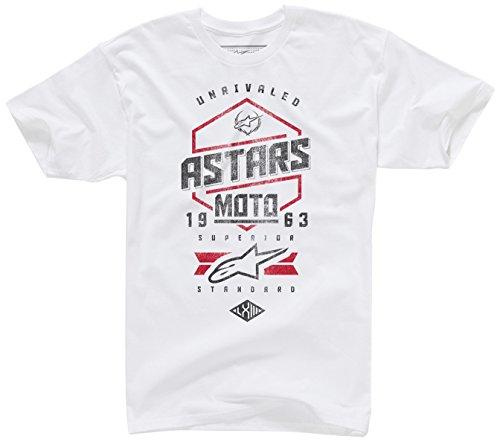ALPINESTARS Men's Hexlock T Shirt, White, Large