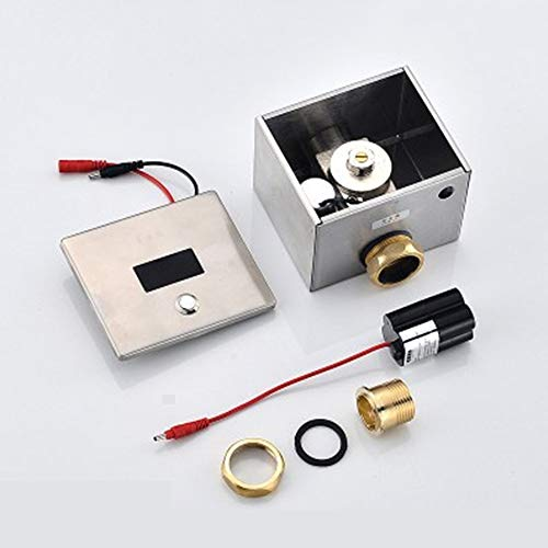 tic Induction Surface Mounted Toilet Infrared Surface Mounted Concealed WC Smart Pissing Flush Valve Panel Water-saving Electronic Toilet Flush Inductive Sensor ()