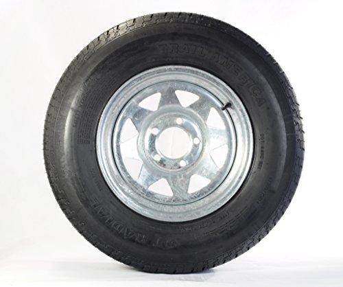 Radial Trailer Tire + Rim ST205/75R15 205/75-15 15 5 Lug Wheel Galvanized Spoke by eCustomRim (Image #3)