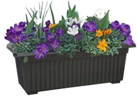 A2Z: Macetas rectangulares de jardín de soluciones para el hogar, macetas grandes de 70 cm, color negro: Amazon.es: Jardín