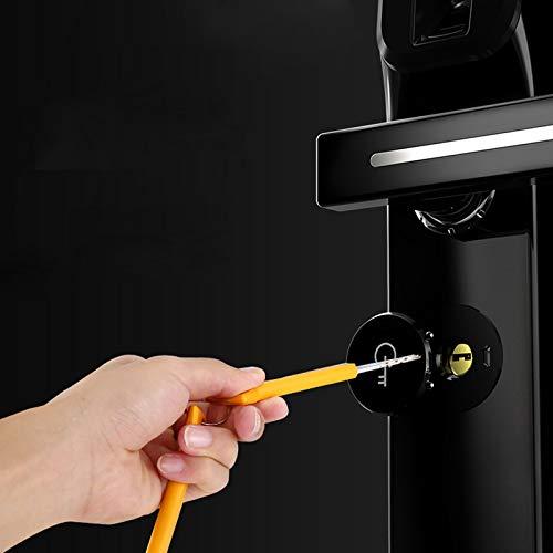 BLWX - Smart Door Lock-zinc Alloy+semiconductor Fingerprint-Fingerprint Lock Home Security Door Lock Smart Electronic Lock Password Lock Card Lock Door Wooden Door Lock-Size: 355X76X26mm Door Lock by BLWX-home renovation. Door lock (Image #5)