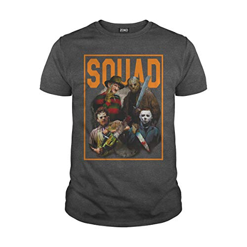Zoko Apparel Men's Squad Halloween Horror Movie T-Shirt (XL, Dark -