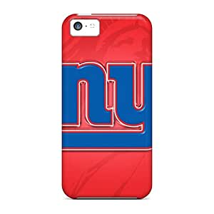 Perfect Hard Phone Cover For Iphone 5c With Customized Lifelike New York Giants Image AnnaDubois
