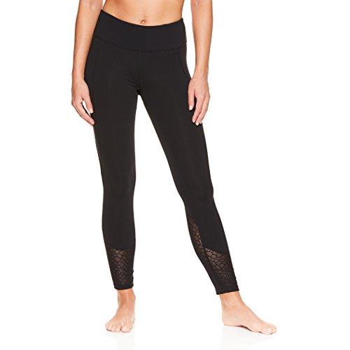 (Gaiam Women's Om Yoga Pants - Performance Compression Full Length Spandex Leggings - Lacie Black (Tap Shoe), Small)