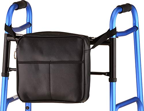 NOVA Universal Tote Bag for Folding Walker, Rollators, Wheelchairs and Scooters, Classic Black