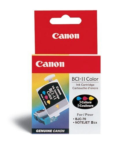 Canon BCI11 - BCI-11CLR Ink Tank, 80 Page Yield, Cyan, Magenta, Yellow, 3/Pack-3317066