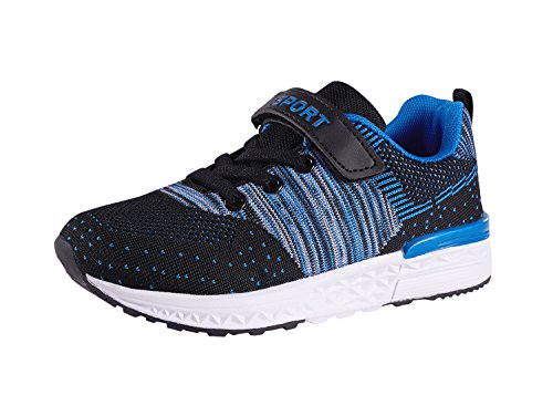 Casbeam Kids Lightweight Breathable Walking Running Tennis Shoes For Boys and Girls Blue 27