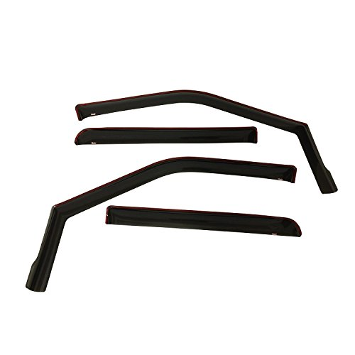 Wade 72-37407 Smoke In-Channel Wind Deflector - 4 Piece