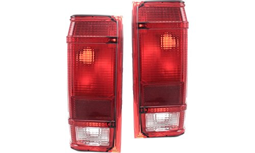 1989 89 Rh Tail Light (Evan-Fischer EVA15672055542 Tail Light for Ford Ranger 83-90 Set of 2 RH and LH Lens and Housing Left Right Replaces Partslink# FO2800105, FO2801104)