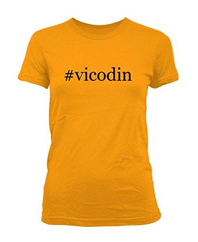vicodin-hashtag-ladies-juniors-cut-t-shirt-gold-xx-large
