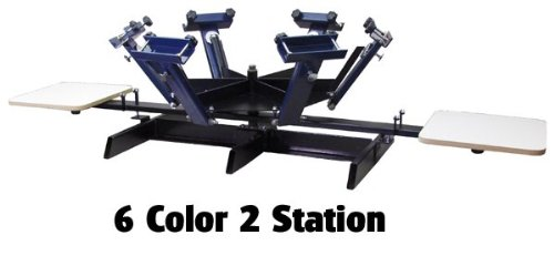 Screen Printing Press 6 Color 2 Station by Home Based Equipment