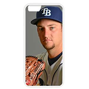 MLB iPhone 6 White Tampa Bay Devil Rays cell phone cases&Gift Holiday&Christmas Gifts NBGH6C9125533