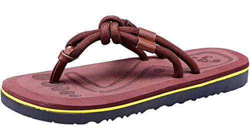 Support Beach Brown PPXID Flop Thongs Arch Fashion Summer Comfort Men's Flip Slippers SxqYxBwPzH