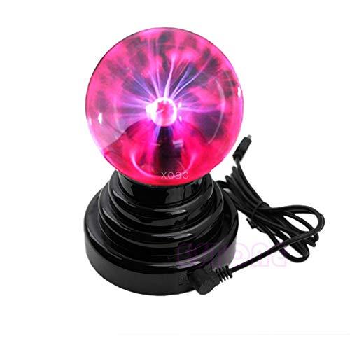 KINWAT New USB Magic Black Base Glass Plasma Ball Sphere Lightning Party Lamp Light M10 dropship