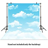 Allenjoy 5x7ft Photography Backdrop cartoon blue sky white cloud newborn baby background props photocall photobooth Photo studio