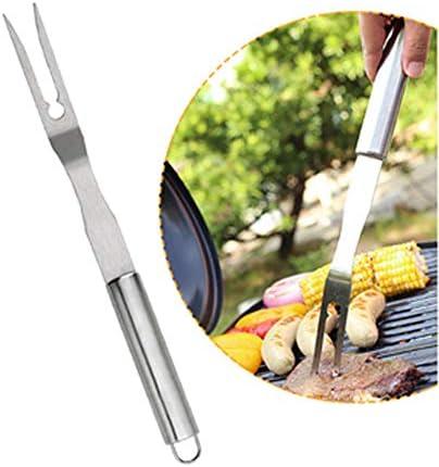 Yzyamz Ensemble D'accessoires pour Barbecue Pince Fourchette Spatule en Acier Inoxydable en Métal Brosse À Huile en Silicone Gadgets pour Barbecue