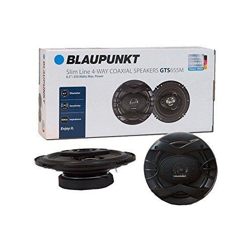 Blaupunk GTS655M 6.5 inch 250W Slim Line, 4 Way Coaxial Car Audio Speaker, Set of 2