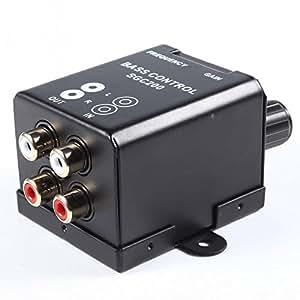 Wecooland Car Home Amplifier Subwoofer Equalizer Crossover RCA Adjust Line Level Volume