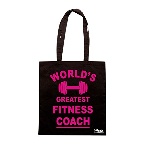 Borsa WORLDS GREATEST FITNESS COACH - Nera - DIVERTENTE by Mush Dress Your Style