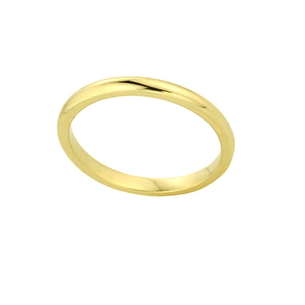 Stacking 14k Yellow Gold Sizable Plain Toe Ring, Size 4.25