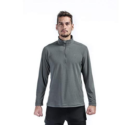 OEC Lightweight Elastic Fleece Sweatshirt Half Zip Warm Jacket for Men