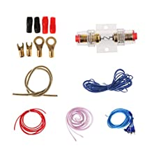 MonkeyJack 8Ga Gauge Amp Kit Amplifier Install Wiring Complete Installation Cables Kits