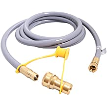 KIBOW 12Ft 1/2 Inch ID Low Pressure Natural Gas Propane Gas Hose Assembly-CSA Certified