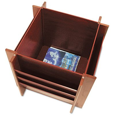Buddy 9298 Table With Literature Rack , Mahogany