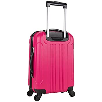 "Kenneth Cole Reaction Out Of Bounds Abs 4-wheel Luggage 2-piece Set 20"" & 28"" Sizes, Magenta 1"
