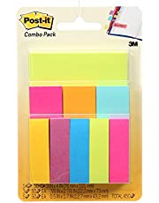 """Post-it Notes & Page Markers Combo Pack, 3"""" x 4"""", .5"""" x 2"""", 1"""" x 3"""", Bookmark Sticky Notes"""