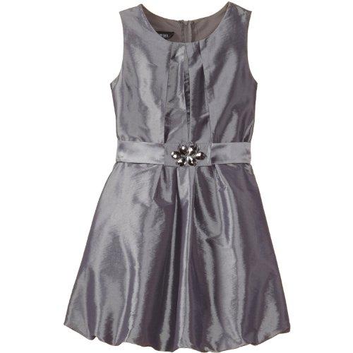 Satin Jeweled Dress - 5