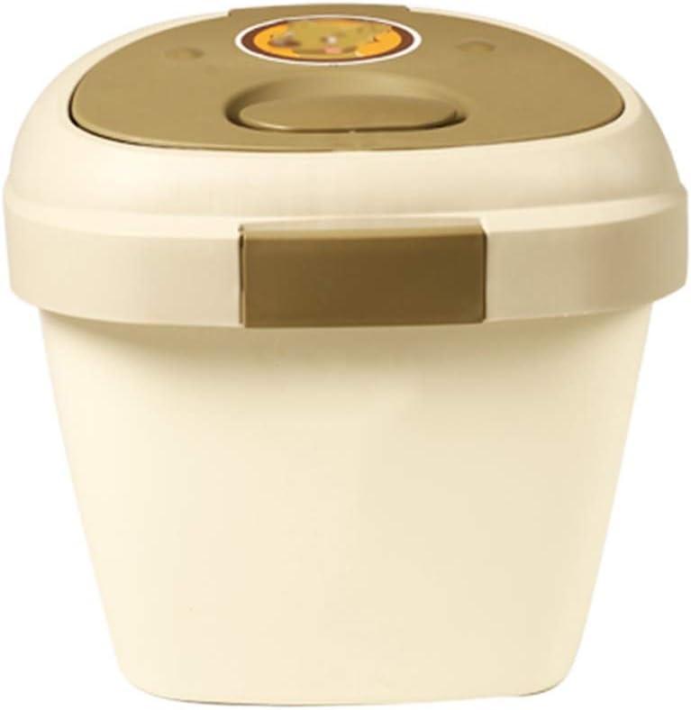 Jlxl Mascotas Contenedor Alimentos, Gran Capacidad Pájaro Semillas Caja de Almacenamiento Cocina Cereales Caja con Polea (Tamaño : 5kg): Amazon.es: Hogar
