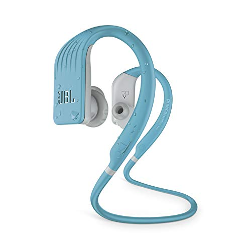 JBL ENDURANCE JUMP- Wireless heaphones, bluetooth sport earphones with microphone, Waterproof, up to 8 hours battery, charging case and quick charge, works with Android and Apple iOS (Teal)