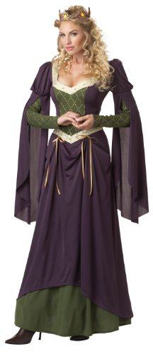 Medieval Queen Dress (California Costumes Women's Lady In Waiting Adult, Purple, Large)