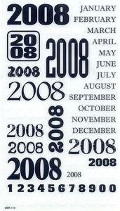 2008 Rub-ons for Scrapbooking (DBR110)