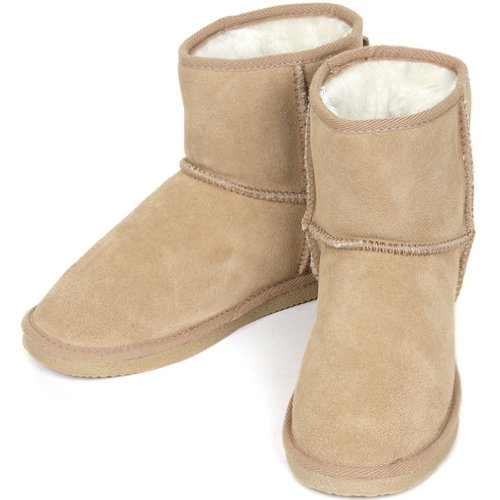 Snow New Womens Cute Leather Warm Shearling Winter Beige Boots araXqxw