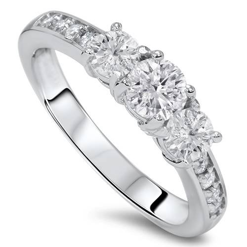 three stone engagement ring - 9