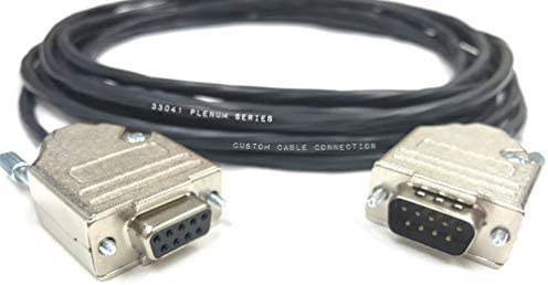 28 AWG Shielded 50 Foot DB9 Male to Female RS232 Extension Serial Cable