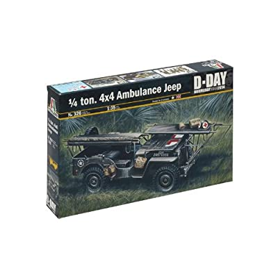 Italeri 0326S 1/35 1/4 Ton 4x4 Ambulance Jeep Normandy: Toys & Games